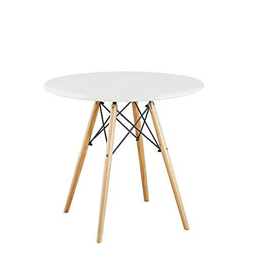 Ronde eettafel, Modern Houten Koffietafel, nemen Beuken Hout en Matt Verf, voor Binnenlandse Zaken keuken Balkon,80cm