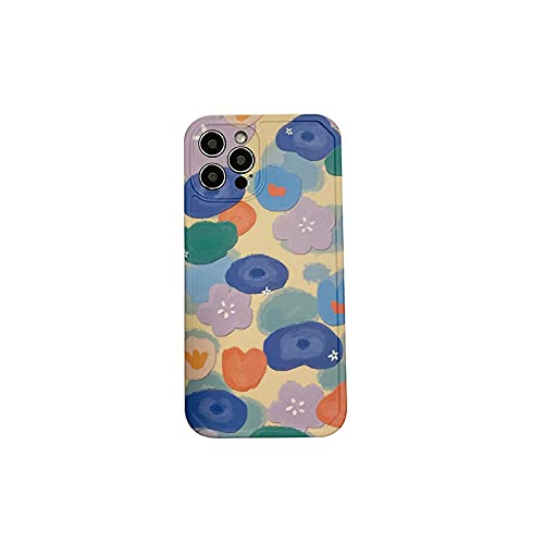 Funda para iPhone 12 11 Pro Max 7 8 Plus SE 2020 X XR XS Max Pintura al óleo floral suave silicona protectora Cover - CJ67-2-For-iPhoneX