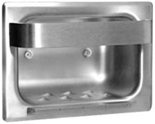 Bobrick B-4390 Stainless Steel Recessed Heavy-Duty Soap Dish and Bar