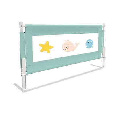 Ledikant Guard Bed Guard Rail Safety Vertical Lift Barrier for Peuters Baby Kids Kinderen Super Tweepersoons King/Queen Size Bed LQHZWYC (Size : 180cm(70.87inch))