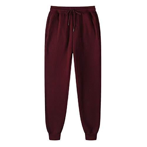 N\P Pantalones de chándal para hombre, acolchados, estilo casual marrón XL