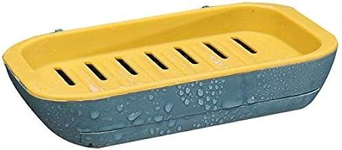 1PC badkamer afvoer rack zeep stand zeep plank zeep plank zeep saver nieuwe kleur draagbare zeep stand dubbellaagse niet-p...