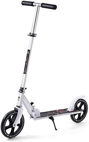 XLYYHZ Scooter, Kick Scooter f u r Adultos y Adolescentes - Plegable, Ligero, Ajustables portátiles, Que Llevan Adultos, Pesados con una Carga máxima de 220 LB, Blanco