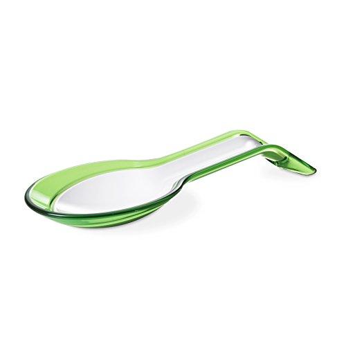 Omada Design Poggiamestolo Scomponibile, Made in Italy, Lavabile in Lavastoviglie, Linea Trendy, Colore Verde/Bianco