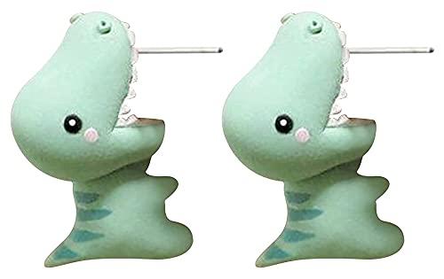 Lindos tachuelas de oreja mordaz, pendientes de mordeduras de dinosaurios 3D Historieta de dibujos animados Animal, Pendientes Piercing Pendientes Tiburón Morded Sobres Partamentos Simple Dibujos Anim