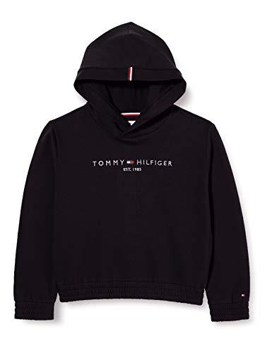 Tommy Hilfiger Essential Hooded Sweatshirt Suéter, Black, 6 para Mujer
