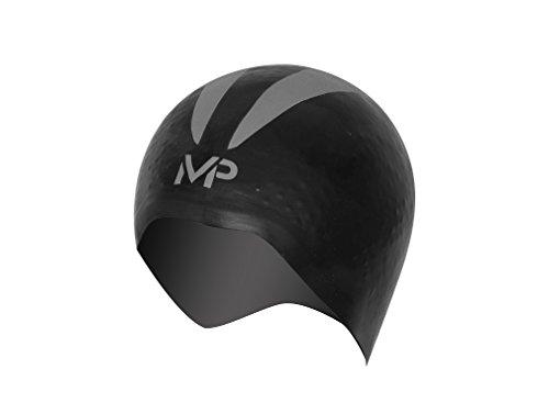 MP Michael Phelps Unisex's X-O Swimming Cap, Black/Silver, Large