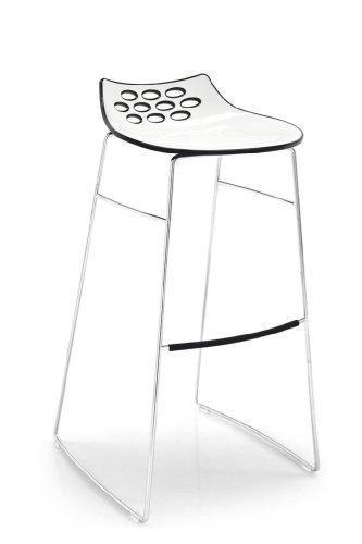 Calligaris Barhocker Jam CS/1034 - in weiß/schwarz glänzend