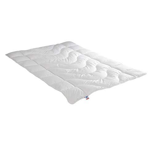 Irisette leichte Sommerdecke Steppbett Lara, aus edlem Baumwolle-Feinperkal, 95 Grad waschbar, inkl. Aufbewahrungstasche, 155 x 200 cm, weiß