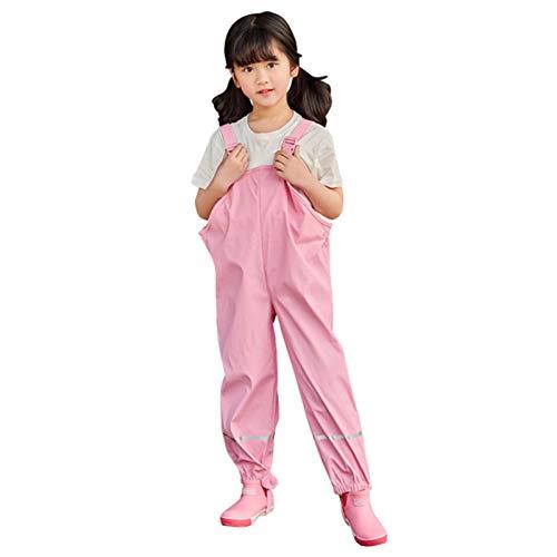 CQWW Unisex Kinder Regenlatzhose, Wind- und wasserdichte Matschhose-Jumpsuit-Kleidung