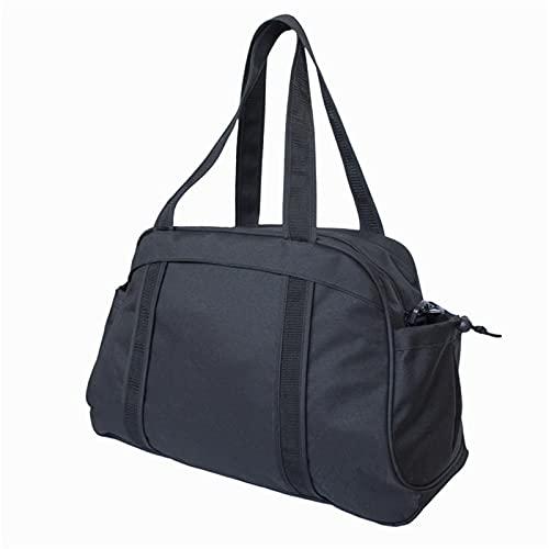 HUUATION 1 UNIDS Mujer Multi-Funcional Mats Mats Bags Oxford Sport Bag Pilates Fitness Bags Gym Funda Deportiva Bolsa de la Caja (sin Estera)(Black Color)