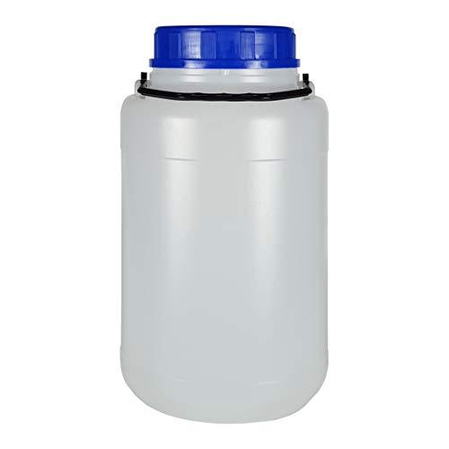 Bote 5 litros boca ancha con tapa y asa. Bidón de plástico. Pack 5 Unidades.
