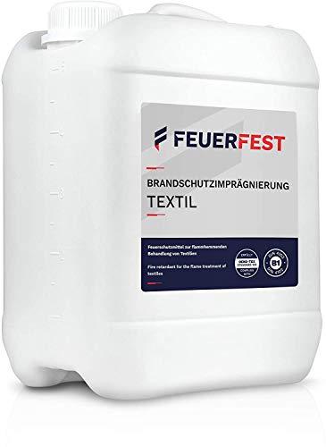 FEUERFEST® Brandschutzimprägnierung Textil 10l - B1 DIN 4102 - Oeko-TEX, Feuerschutzmittel, Brandschutzmittel