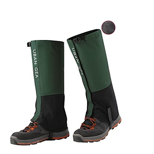 Yingbao Outdoor Plus Velvet Botones De Nieve a Prueba Nieve Cálidas Empresas Nieve Leggings Ajustables, Desert Skiing Jungle Trekking Snow Shoes Snow (Color : Armygreen, Size : XL)