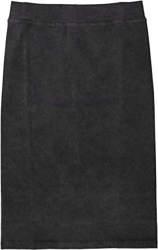 KIKI RIKI Womens Stonewash Pencil Skirt - 41136 - Black, Small