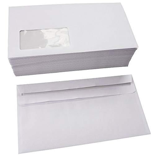 Briefumschläge selbstklebend m. Fenster 125x235 mm kompakt 75 g/m² (200)