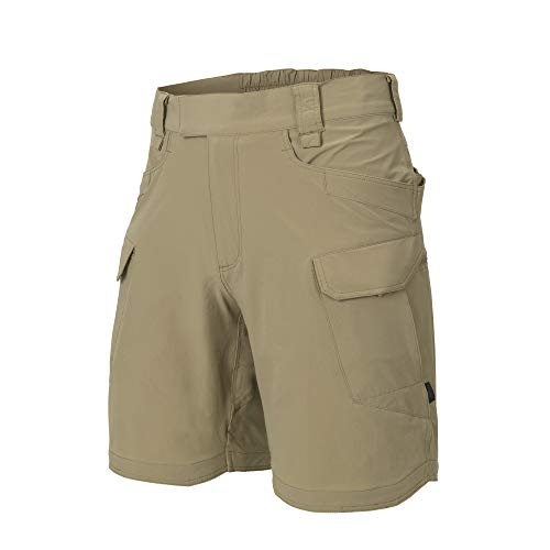 Helikon-Tex Men OTS Shorts Khaki VersaStretch Lite Waist 36 Length 8.5, Outback Line Outdoor Tactical Shorts