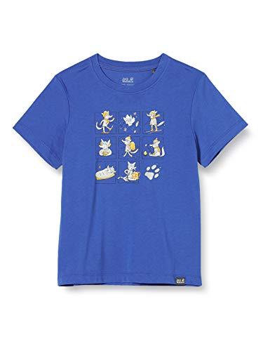 Jack Wolfskin Many Wolves T-Shirt Mixte Enfant, Coastal Blue, FR : XXS (Taille Fabricant : 116)