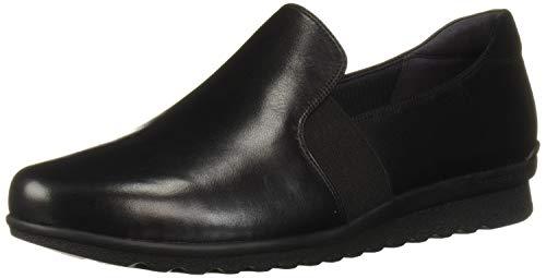 Aravon Women's Josie Slipon Platform, Black Leather, 9 W US