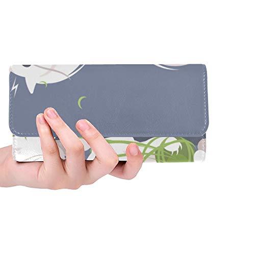 Monedero con Monedero de Bloqueo RFID con Tarjetero con Tarjeta de crédito Pequeños Gatos Divertidos Jugando a la Pelota Cartera de Tarjeta de Regalo para Mujer Cuero Triple Cartera Larga Linda Estuc