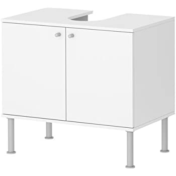 Ikea Fullen Meuble Lavabo Avec 2 Portes Blanc 60x55 Cm Amazon Fr Cuisine Maison