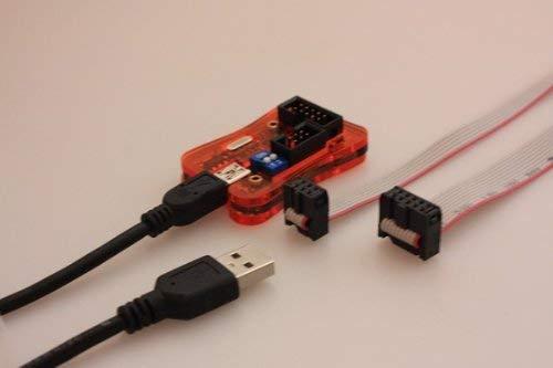 Tremex USB ISP-Programmer mit 6 + 10 Pol Adapter für ATMEL AVR, STK500, ATmega, ATtiny, AT90