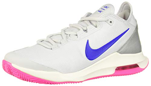Nike Air Max Wildcard Clay, Scarpe da Tennis Donna, Multicolore (Pure Platinum/Racer Blue-Mtlc Platinum 2), 39 EU