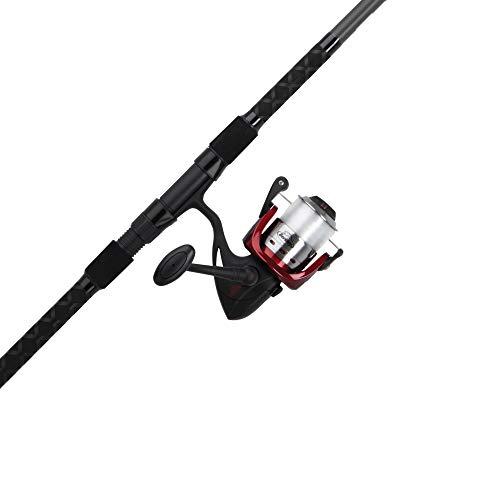 Berkley Glowstik Surf Spinning Reel and Fishing Rod Combo Black/Red/Smoke, 10' - Medium Heavy