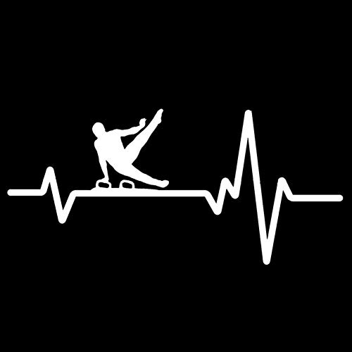 XCWQ Auto Sticker 15.8Cm*7.3Cm Mens Paard Een Hand Pak Heartbeat Vinyl Zwart/Zilver Display Persoonlijkheid Occlusie Scratch ZILVER