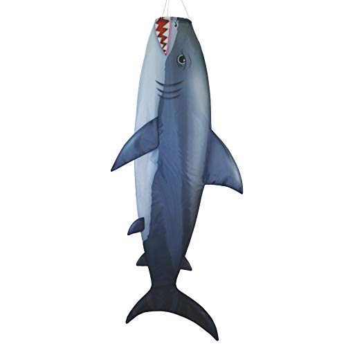 "Breeze In The Shark 48-Inch Fish Windsock Fisch-Windsack, 121 cm, realistischer Fischsocke, 122 cm Hai, 19,5"" W H x 6"" D"