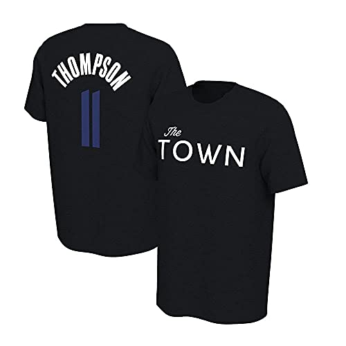 QWE Jerseys de Baloncesto para Hombres, Golden State Warriors # 11 Klay Thompson NBA Suelta Camisetas Casuales Camisetas Chalecos Tops Transpirables Jerseys de Baloncesto, Negro, S (160~165cm) DOISLL