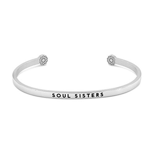 Simple Pledge - Soul Sisters - Armreif in Geschenkverpackung in Silber mit Gravur für Damen