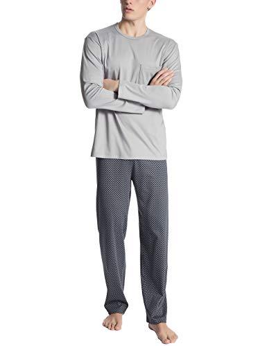 Calida Herren Relax Placid Zweiteiliger Schlafanzug, Schwarz (Ombre 368), Small (Herstellergröße: S)