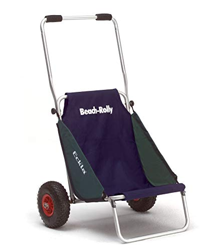 Eckla Beach Rolly ohne Sonnendach, die ideale Transporthilfe (pannensicher Bereift, Blau/Grün)