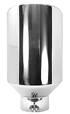 """RP Remarkable Power, 5"""" Inlet 10"""" Outlet 18"""" Long Stainless Steel Rolled Edge Diesel Exhaust Tip EXT39"""
