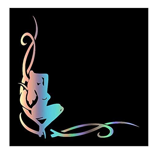 MDGCYDR Pegatinas Personalizadas Coche Chica (En La Esquina del Cristal) Pegatina Reflectante Divertida para Coche Calcomanía De Vinilo Pegatinas Impermeables para Coche En Coche Camión 25X25,4 Cm