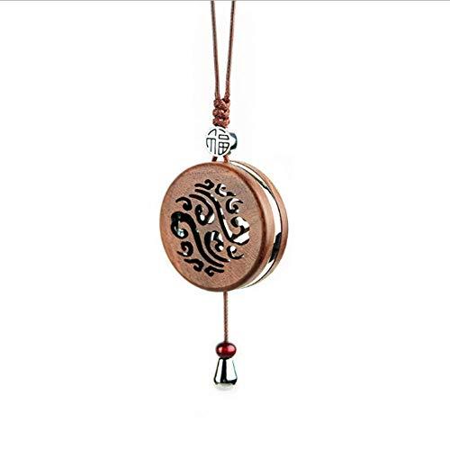 skwff Car parfum hanger sieraden perzik hout ademende film hoogwaardige hanger opknoping aromatherapie auto