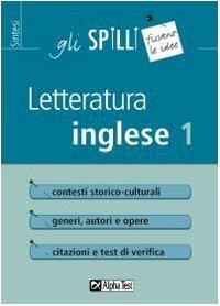 Letteratura inglese (Vol. 1)