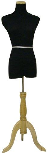 Black Female Dress Form Mannequin Size 2-4