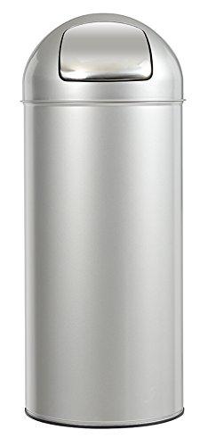 ROSSIGNOL Push Poubelle Gris Métal 45L, INOX, 31x31x77,5 cm