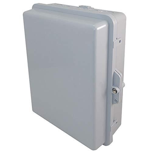 """Altelix NEMA Enclosure 14x11x5 (12"""" x 8"""" x 4"""" Inside Space) Polycarbonate + ABS Weatherproof Tamper Resistant NEMA Box"""
