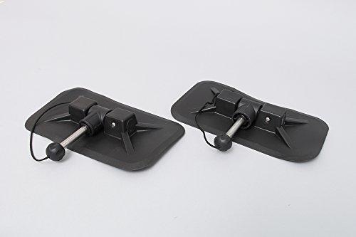 2 vogatori grandi per gommoni (nero), supporto vogatore 4 base quadrata.