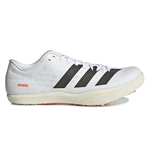 adidas Adizero LJ, Zapatillas de Atletismo Unisex Adulto, FTWBLA/NEGBÁS/Rojsol, 44 2/3 EU