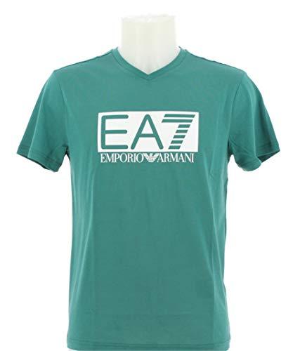 EA7 Emporio Armani T Shirt Manica Corta Scollo a V Uomo
