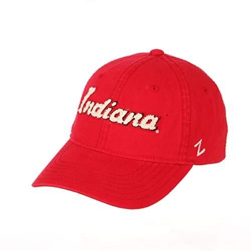 NCAA Zephyr Indiana Hoosiers Womens Laurel Relaxed Hat, Adjustable, Primary Team Color