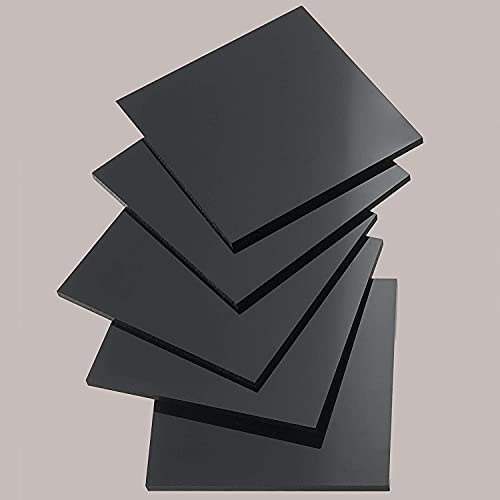 nattmann POM Platte Zuschnitt 2-30 mm/Farbe: Schwarz/DELRIN® TENAC® SUSTARIN® (10 mm, 195 x 195 mm)