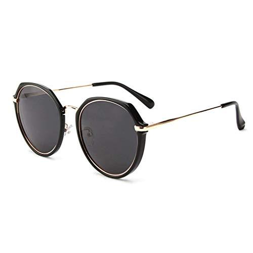 WSDSX Gafas de sol polarizadas para exteriores para mujer, con montura metálica, gafas de sol, antirreflejos, protección UV400, gafas coloridas, para conducir, pescar, ciclismo, negro