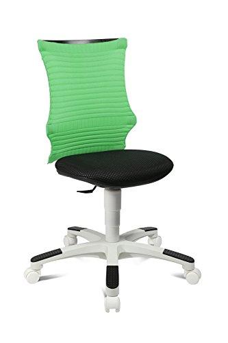 Topstar S'Neaker, mitwachsender Kinder-und Jugenddrehstuhl, Schreibtischstuhl für Kinder, Stoff, Grün/Schwarz/Weiß