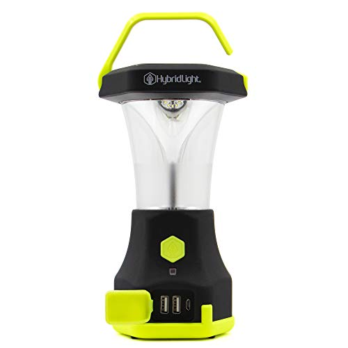 Hybrid Light Atlas 600 Solar LED Waterproof Camping Lantern with Micro USB Charger, HV Yellow