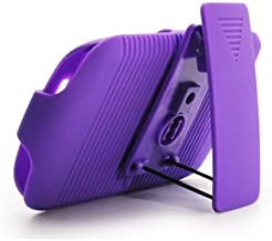 Aimo Wireless BB9370PCBEC014 Shell Holster Combo Protective Case for BlackBerry Curve 9370 with Kickstand Belt Clip and Holster - Retail Packaging - Purple